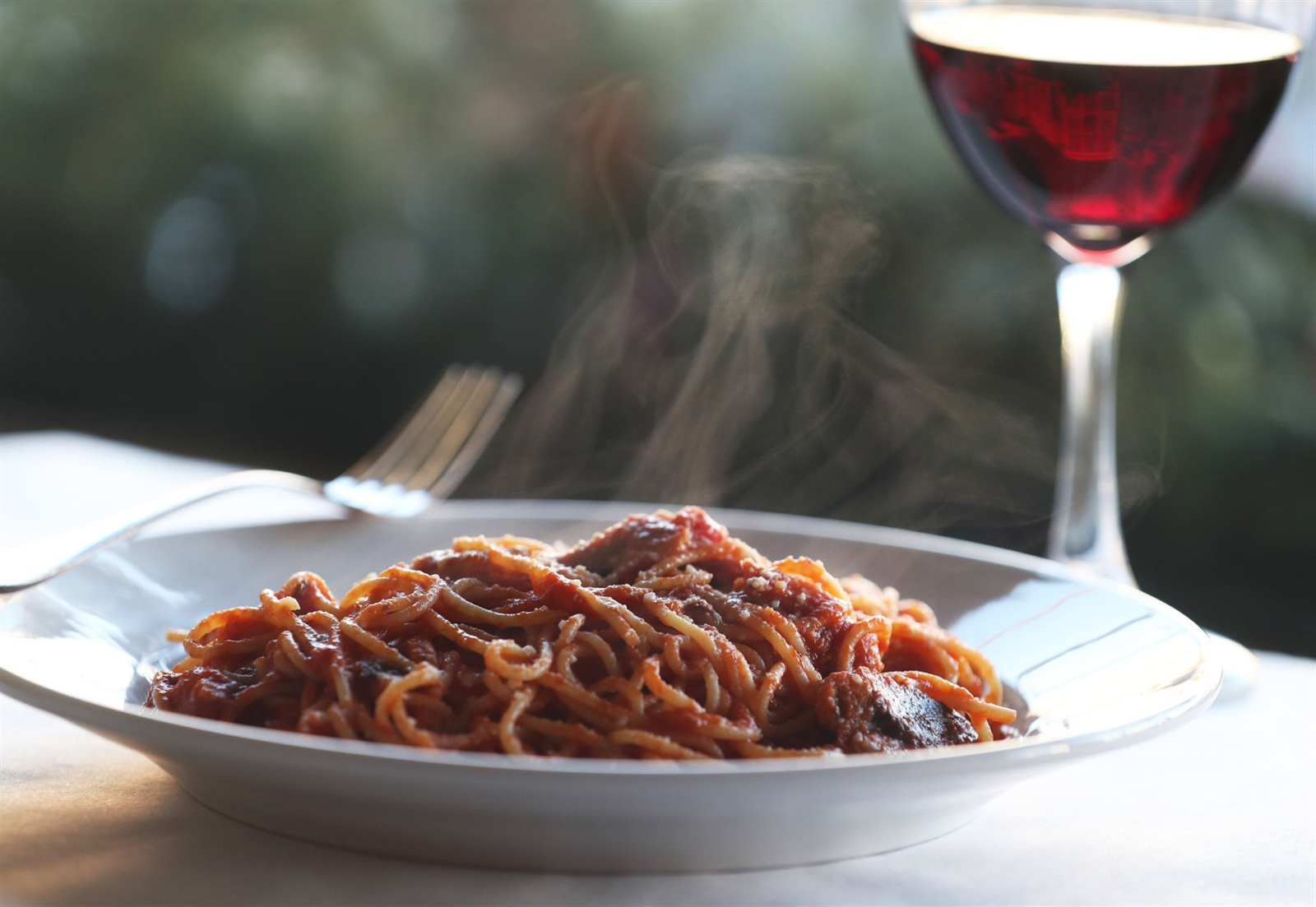 Vino's pasta con sarde is made with sardines, anchovies, olive oil and garlic tossed in a red sauce.